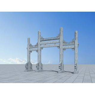 石牌坊3d模型