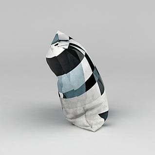 印花抱枕3d模型