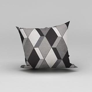 立体花纹抱枕3d模型