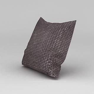 简约布艺抱枕3d模型