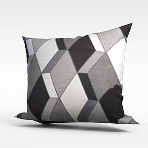 3d立體花紋抱枕模型
