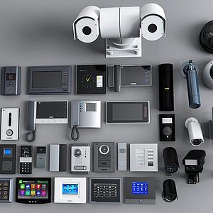 監控設備攝像頭模型3d模型