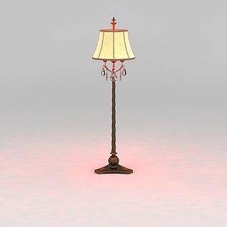 古典风格落地灯3d模型