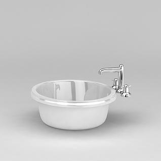 浴室洗脸台盆3d模型