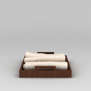 浴室毛巾托盘模型3d模型