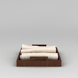 浴室毛巾托盘3d模型