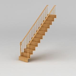 原木楼梯3d模型3d模型