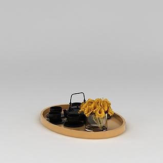 茶具托盘3d模型