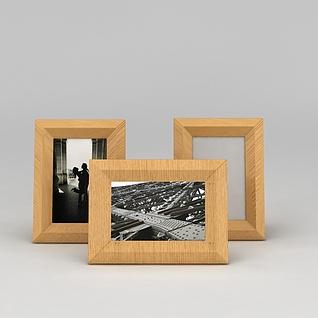 原木相框3d模型