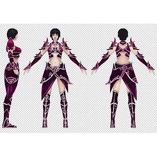 紫衣女3d模型3d模型