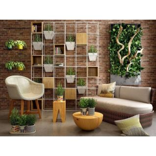 休闲沙发茶几花架组合3d模型
