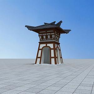 漢闕模型3d模型