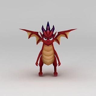 小红龙3d模型3d模型