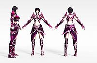 紫衣女3d模型