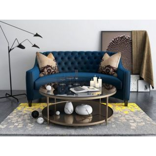 半圆形沙发茶几组合3d模型