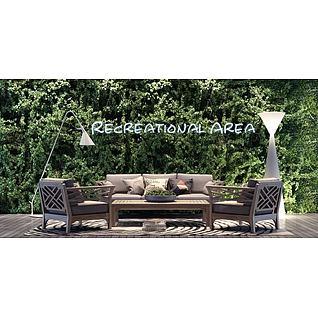 庭院沙发椅子茶几组合3d模型