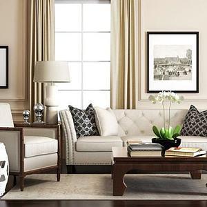 3d<font class='myIsRed'>美式沙发</font>椅子镂空?#39318;?#32452;合模型