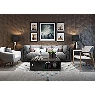 休闲沙发茶几椅子组合3D模型3d模型