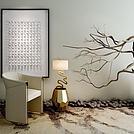 创意台灯干枝花盆组合模型