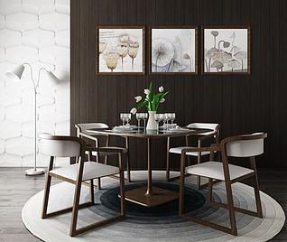 家用餐厅桌椅3d模型