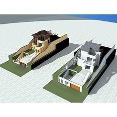 独栋别墅3D模型3d模型