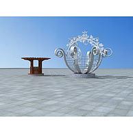 景观花篮花架3D模型3d模型