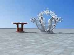 景观花篮花架模型3d模型