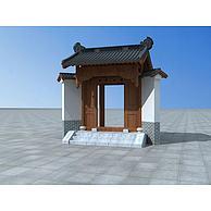 中式门头3D模型3d模型