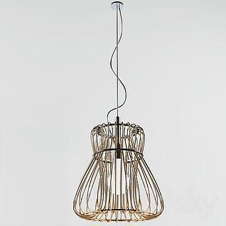 简约现代优美吊灯3d模型