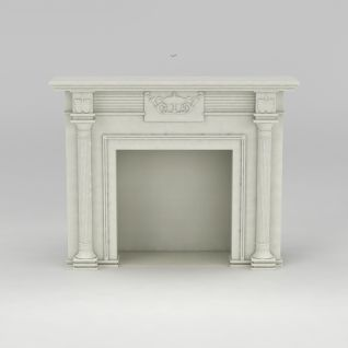 欧式大理石壁炉3d模型
