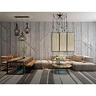 布艺转角沙发茶几餐桌椅组合3D模型3d模型