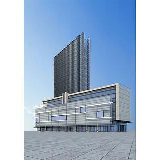 商业综合大楼3d模型