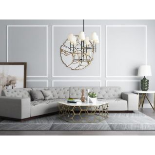 时尚沙发茶几吊灯组合3d模型