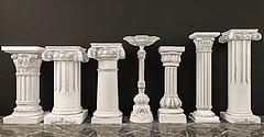 3D模型羅馬石膏柱子組合