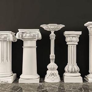 罗马石膏柱子组合模型