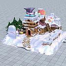 雪地糖果屋模型