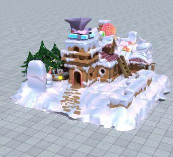 雪地糖果屋