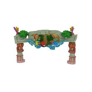 森林公园主题大门3d模型