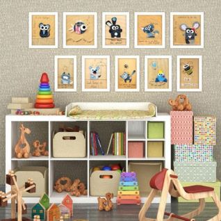 儿童房玩具柜木马摇椅组合3d模型