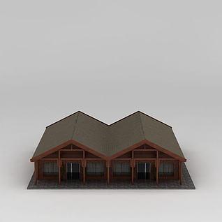 木屋房子3d模型