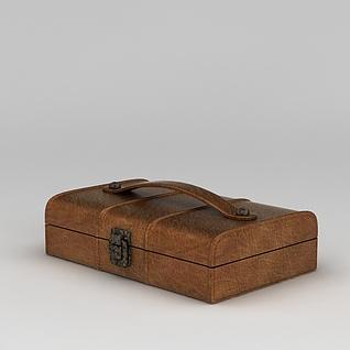 复古手提箱子盒子3d模型