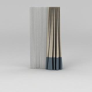 遮光窗帘3d模型