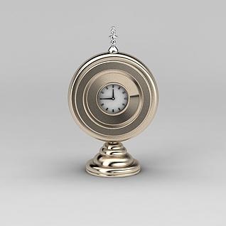 桌摆钟表3d模型