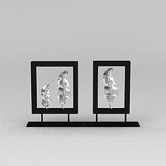 室内羽毛家居摆件3D模型3d模型