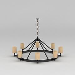 工业风复古吊灯模型3d模型