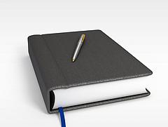 书本笔记本模型3d模型