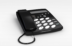 3d黑色<font class='myIsRed'>電話</font>機模型