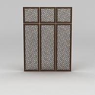 中式镂空木窗3D模型3d模型
