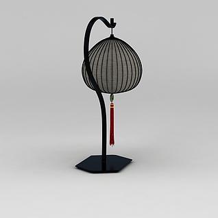 精美古典灯笼落地灯3d模型