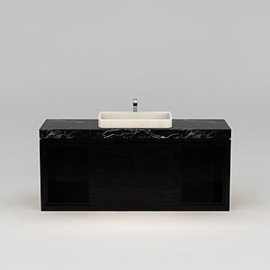 餐厅洗手台盆模型
